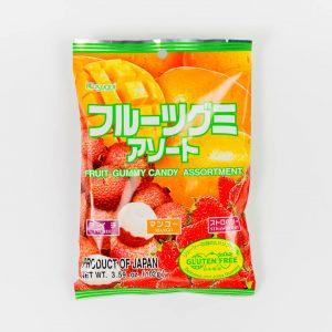 KASUGAI FRUIT GUMMY CANDY - MIX TRZECH SMAKÓW