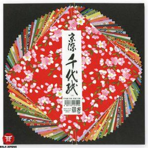 PAPIER DO ORIGAMI KYOZOMECHIYOGAMI- 15 cm x 15 cm