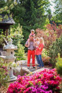 rodzina ogród japoński mała japonia